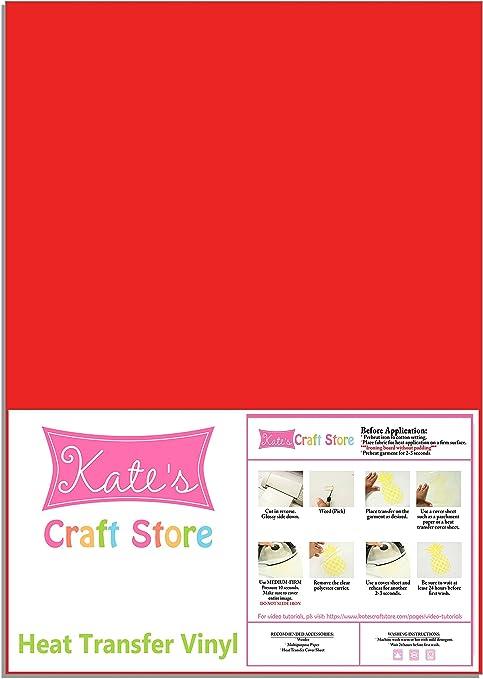 12x12Inch Pink RUSPEPA Heat Transfer Vinyl HTV Iron On for Silhouette Cameo /& Cricut 3sheet HTV for Fabrics and Hats