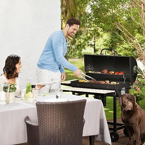 Oneconcept Beefbutler Set Parrilla de Madera BBQ ahumadero + Encendedor eléctrico 350W (Gran Superficie de Grill asado, fácil y rápido de encender, ...
