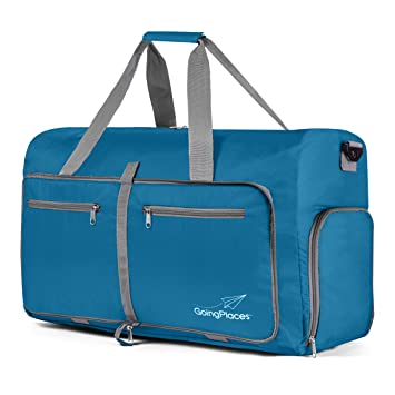 243ee3f1c02a Going Places Packable 60L Duffel Bag; Gym & Sports for Women and Men;  Weekender, Cruise Bag (Pacific Blue)