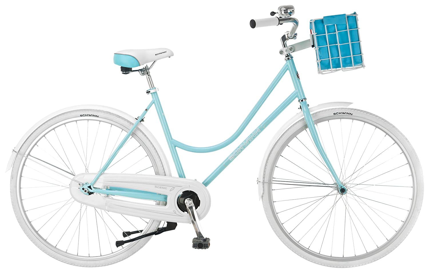 hybrid bike with basket