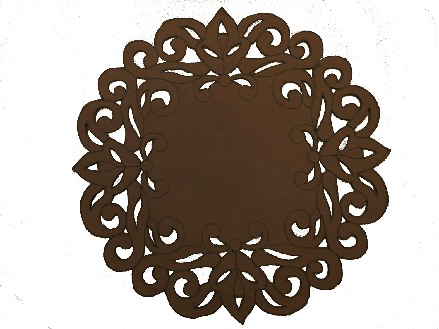 Chocolate Cutwork and Embroidery Placemat 1 Only