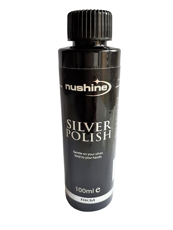 Nushine Silver Polish 100ml - eco-friendly formula removes heavy tarnish