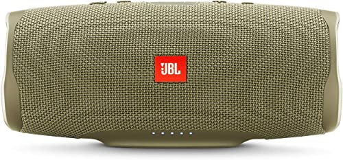 JBL Charge 4 Portable Waterproof Wireless Bluetooth Speaker Bundle with USB Bluetooth Adapter – Sand