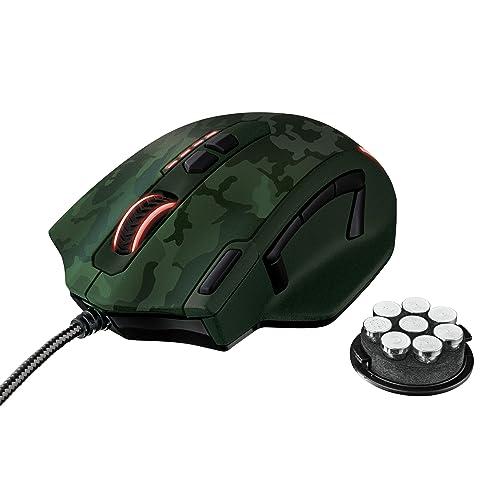 Trust Gaming GXT 155C Ratón para Gaming PC Color Verde Camuflaje