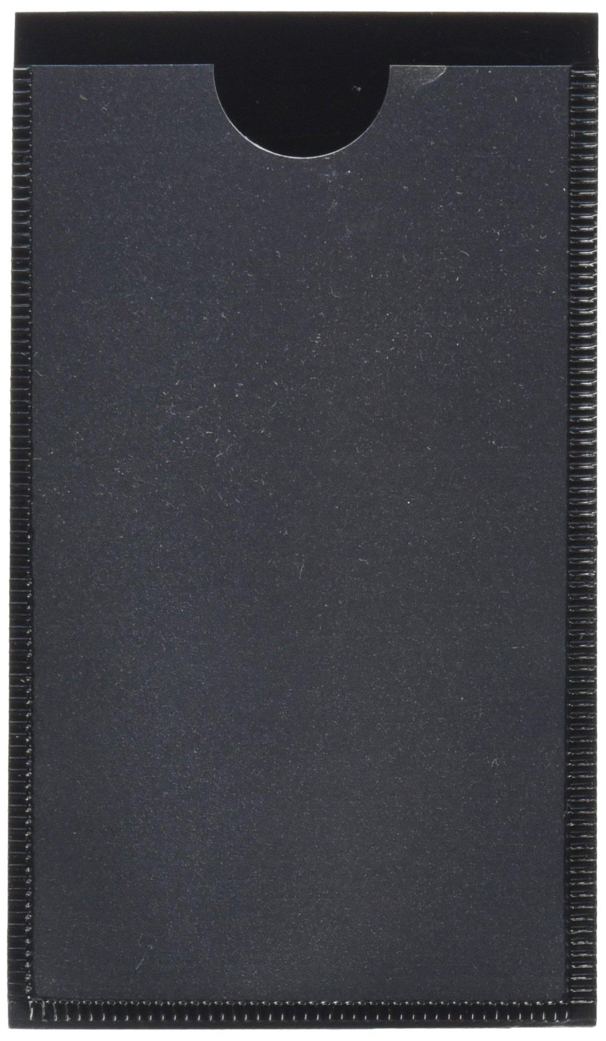 Panter Company MAG-LH-BK Magnetic label holders, 4-1/4 x 2-1/2, black, 10/pack