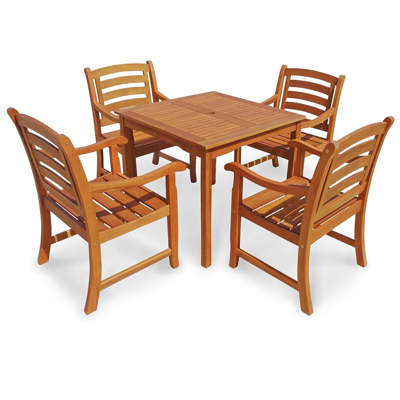 indoba ind 70286 mose5q serie montana gartenm bel set 5 teilig aus holz fsc zertifiziert. Black Bedroom Furniture Sets. Home Design Ideas