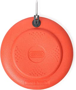 Dexas Off Leash Frisbee Flyer Floating Dog Toy with Removable Leash Attachment