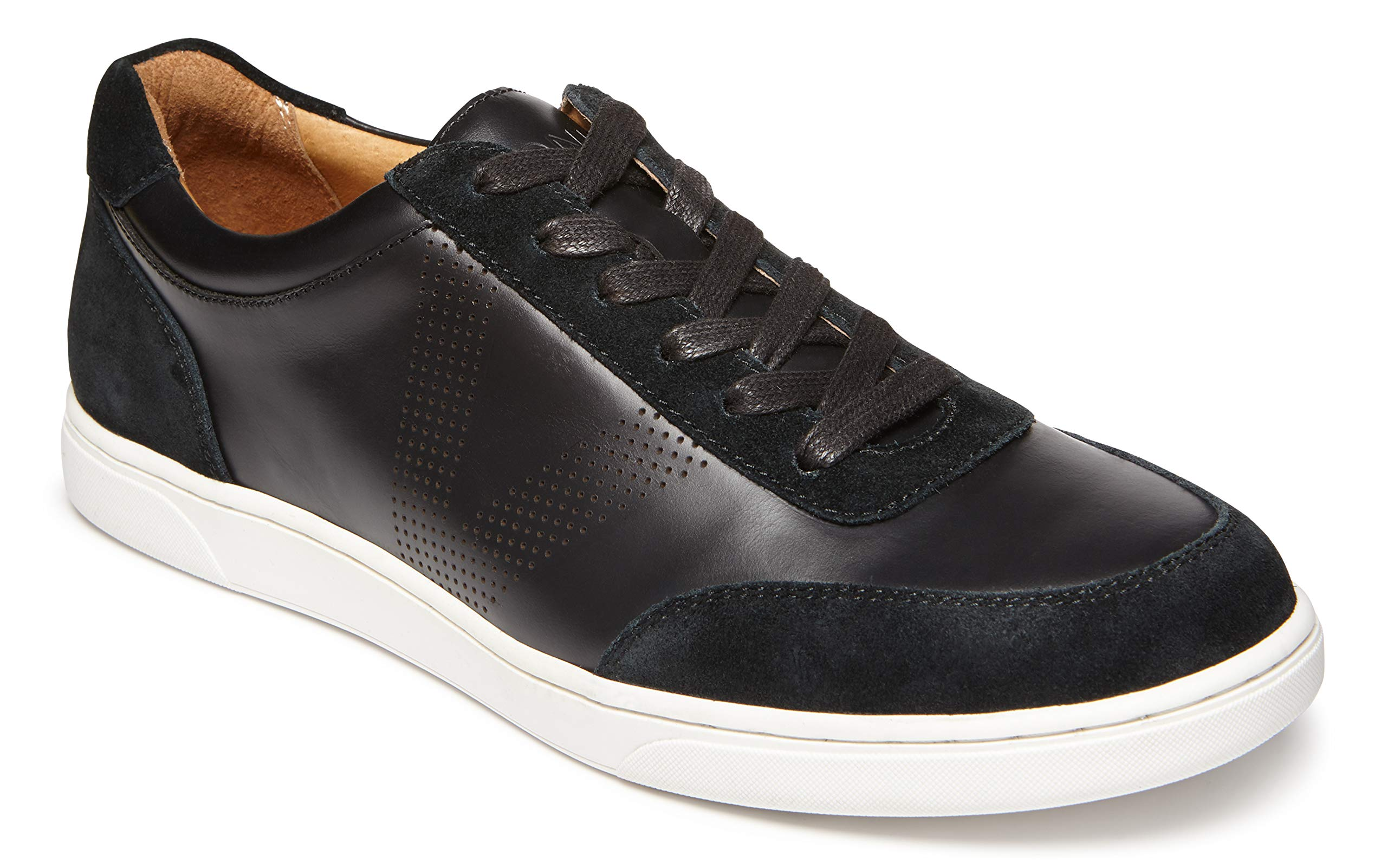 Vionic Men's Mott Brok Lace Up Sneaker - Leather Walking Shoes with Concealed Orthotic Arch Support Black 11 Medium US by Vionic