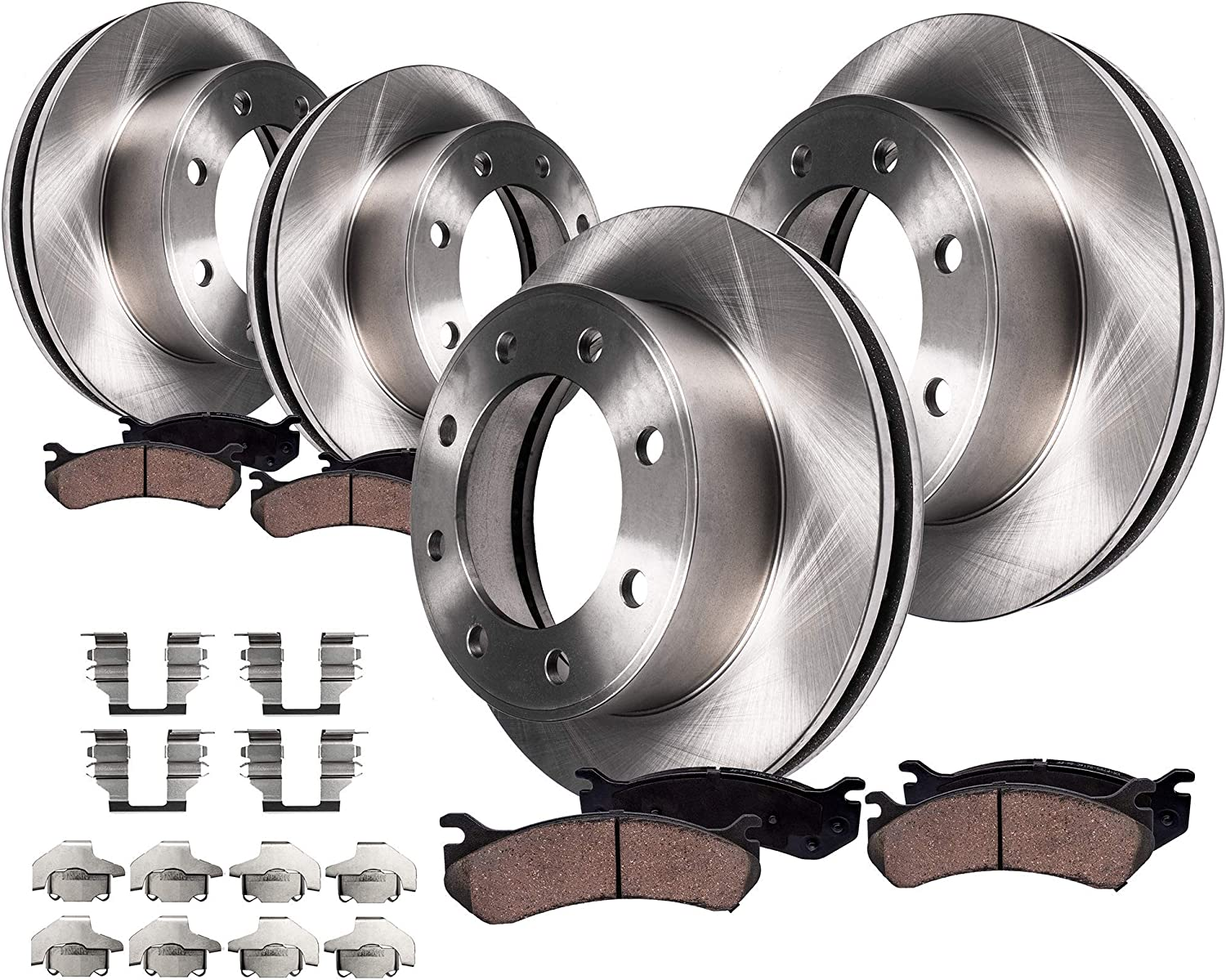 2009 2010 2011 Chevrolet Express 2500 Front /& Rear Brake Rotors and Pads w//8Lug