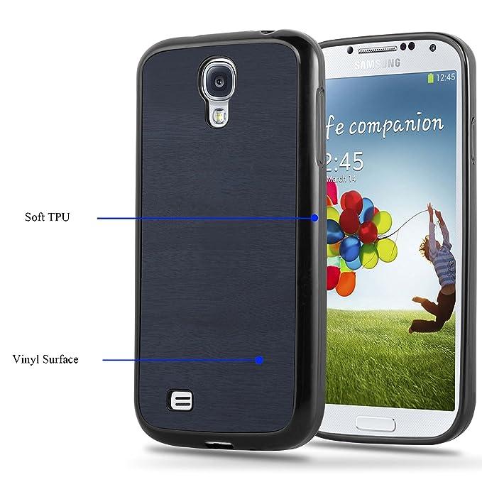 Cadorabo Funda para Samsung Galaxy S4 en Wooden Azul - Cubierta Proteccíon de Silicona TPU Delgada e Flexible con Antichoque - Gel Case Cover Carcasa ...