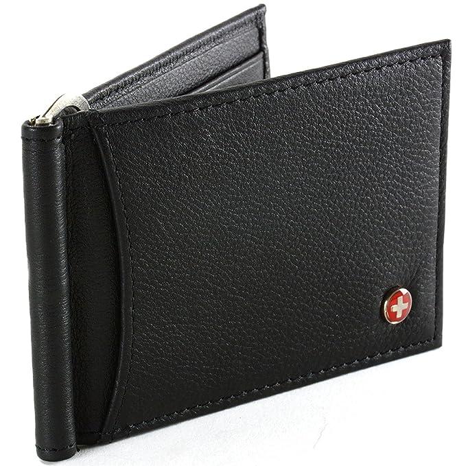 Amazon.com: Alpine Swiss RFID Billetera con cierre de ...