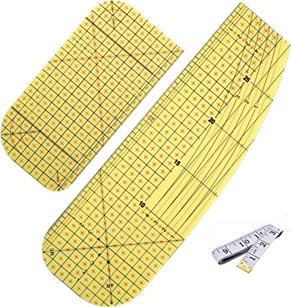 Patchwork Tools for Clothing Making DIY Dry or Steam Ironing Fabric Heat-Resistant Ruler Patchwork Sewing Supplies for Quilting Knitting 1Pack-L Hot Ironing Ruler,Hot Ironing Measuring Ruler