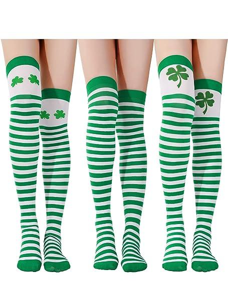 Amazon.com: Chuangdi - 3 pares de calcetines de San Patricio ...