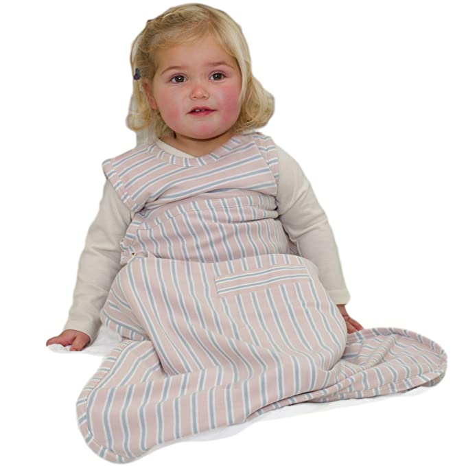 Merino Kids Baby Sleep Bag For Babies 0-2 Years, Light Pink/Light Grey Stripe: Amazon.es: Ropa y accesorios