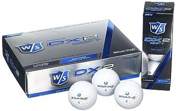 Wilson Staff, Bola de golf más blanda del mundo, 2 capas, Mujer, Para máxima distancia, Pack de 12, Jugadores avanzados, Compresión 29, Caucho, Dx2 ...