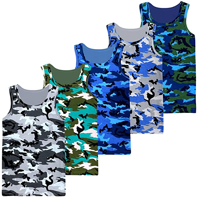 Koupa Boys Camouflage Tank Tops/&Shorts Set Kids Clothes Outfits