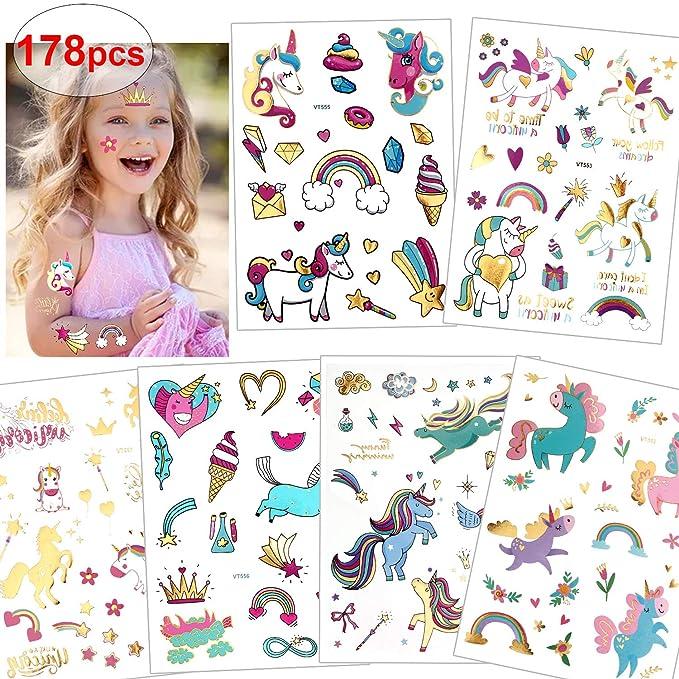 Amazon.com: Konsait - 120 tatuajes de unicornio con ...