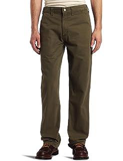 ed92e0fb35 Amazon.com: Carhartt Men's Loose Fit Five Pocket Canvas Carpenter ...