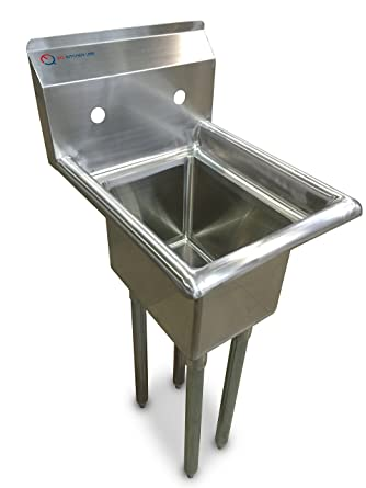 Amazon.com: EQ 1 Compartment Commercial Kitchen Sink Stainless Steel ...