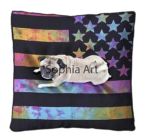 Múltiples bandera de América almohada de suelo grande, funda ...