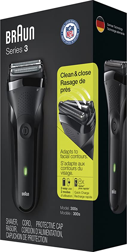 Braun Series 3 300s Mens Electric Shaver/Rechargeable Electric ...