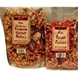 Trader Joes Raw California Premium Walnut Halves & Raw Pecan Pieces Total 2 Items