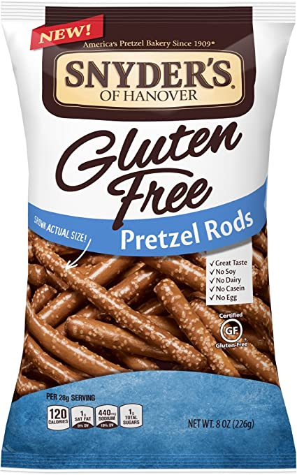 Amazon Com Snyder S Of Hanover Pretzels Gluten Free Rods 8 Ounce Grocery Gourmet Food
