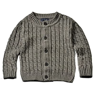 Betusline Baby Boy Girl Cable Knitted Cardigan Sweater
