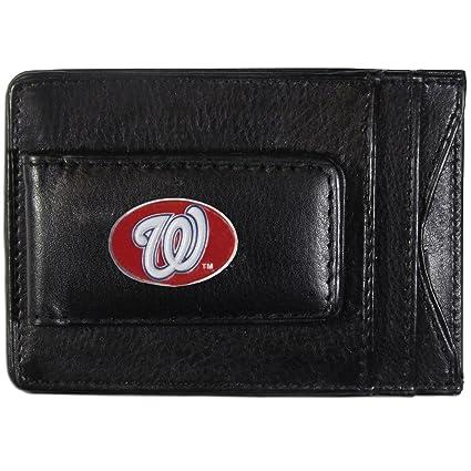 Washington Nationals Leather Money Clip//Cardholder
