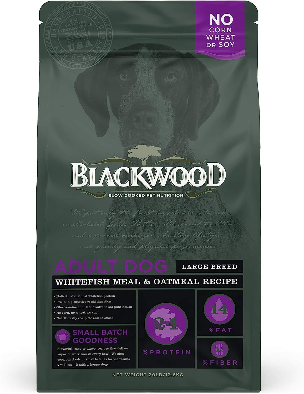 Blackwood Pet Food 22403 Adult Dog, Large Breed, Whitefish Meal & Oatmeal Recipe, 30Lb.