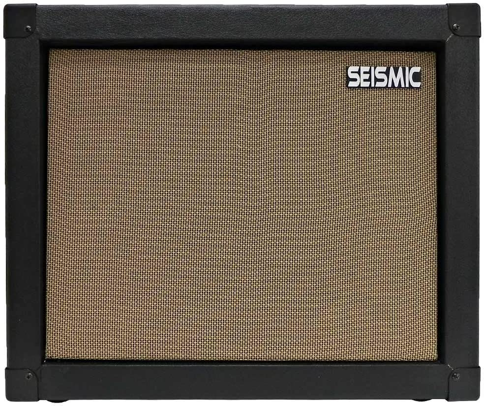 """Seismic Audio - 1x12 GUITAR SPEAKER CAB EMPTY - 7 Ply Birch - 12"""" Speakerless Cabinet - Black Tolex - Wheat Cloth Grill - Front or Rear Loading Options"""