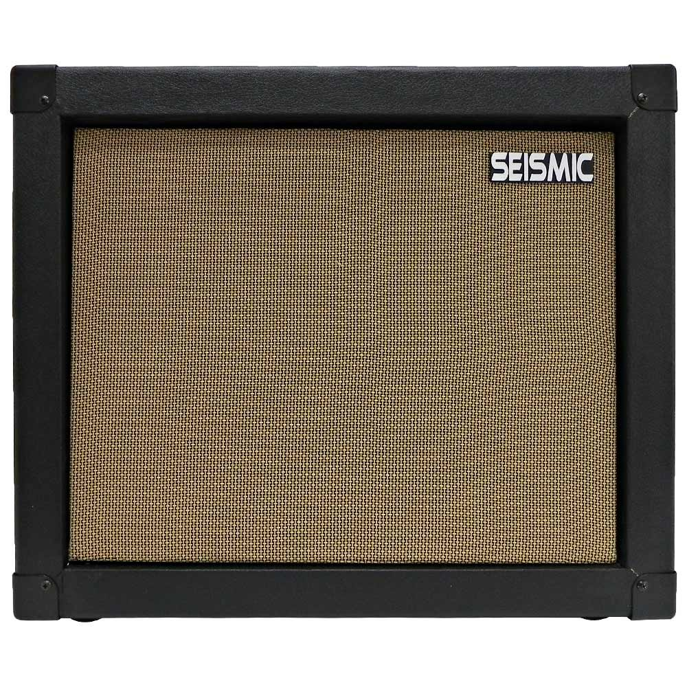 Seismic Audio - 1x12 GUITAR SPEAKER CAB EMPTY - 7 Ply Birch - 12'' Speakerless Cabinet - Black Tolex - Wheat Cloth Grill - Front or Rear Loading Options by Seismic Audio