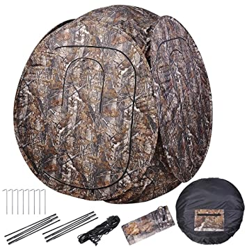 AW Portable 1-2 Person Pop Up Hunting Blind Tent 300D with Carrying Bag 60u0026quot  sc 1 st  Amazon.com & Amazon.com : AW Portable 1-2 Person Pop Up Hunting Blind Tent 300D ...