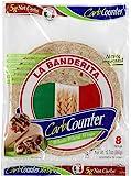 "La Banderita Carb Counter 8"" Whole Wheat Wraps, 8ct Each Pack - 4 Pack Case"