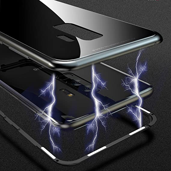 Amazon Com Magnetic Adsorption Flip Case For Samsung Galaxy S8 S9
