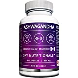 Sky Premium Ashwagandha KSM-66 (90 x 600 mg capsules per bottle) 3 Month Supply. One a day 600mg capsule!