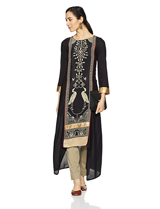 W for Woman Women's A-Line Kurta Women's Kurtas & Kurtis at amazon