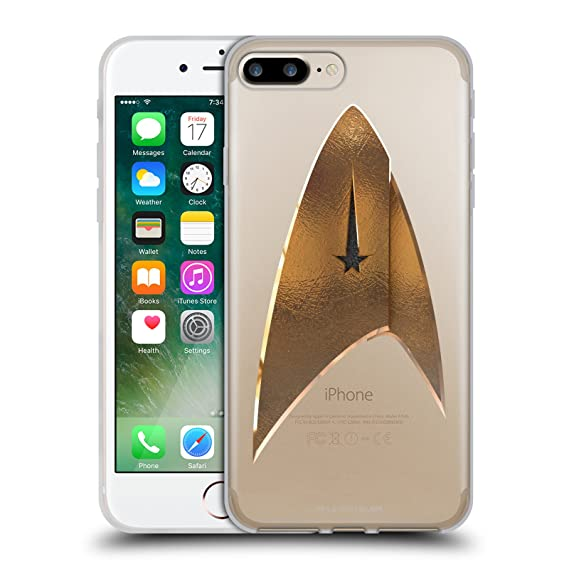size 40 7444e 2abec Official Star Trek Discovery Delta 2 Logo Soft Gel Case for iPhone 7  Plus/iPhone 8 Plus