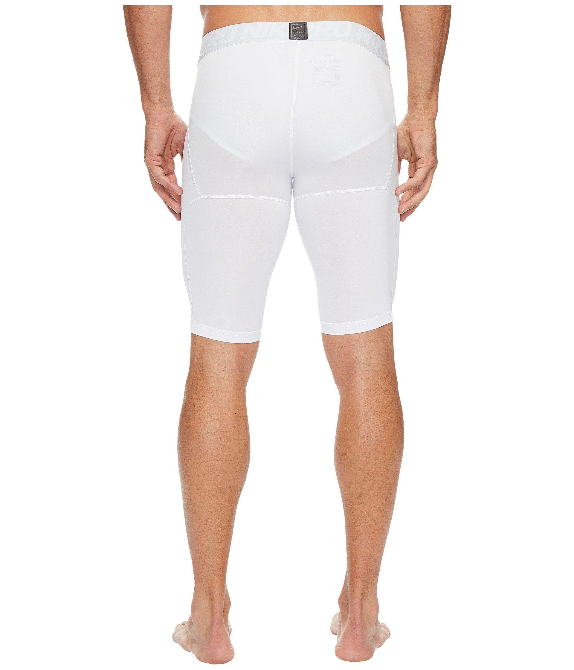 Nike Men's Pro Training Shorts, White/Pure Platinum/Black, Small by Nike (Image #4)