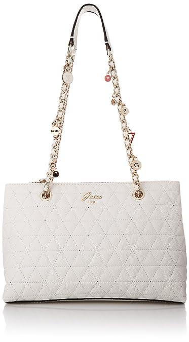 Portés Blanc 30x21x11 Guess whitewhi Femme Épaule Fleur Sacs w88q4U