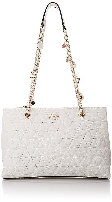 4c5659bae0 Guess Fleur, Women's Shoulder Bag, White (White/Whi), 30x21x11 cm (W ...