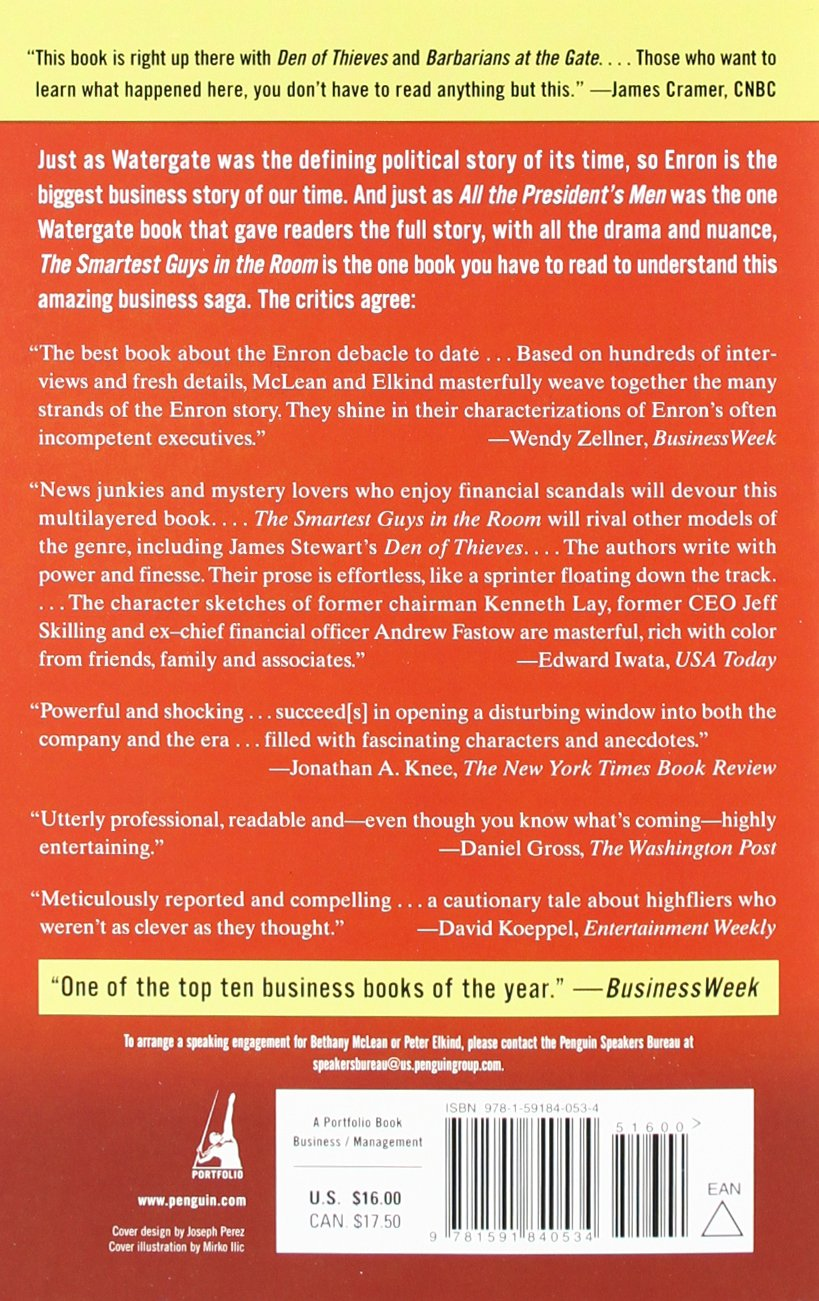 The Smartest Guys in the Room: The Amazing Rise and Scandalous Fall ...