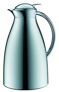 alfi Glass Vacuum Chrome Plated Metal Thermal Carafe for Hot and Cold Beverages, 1.5 L, Chrome