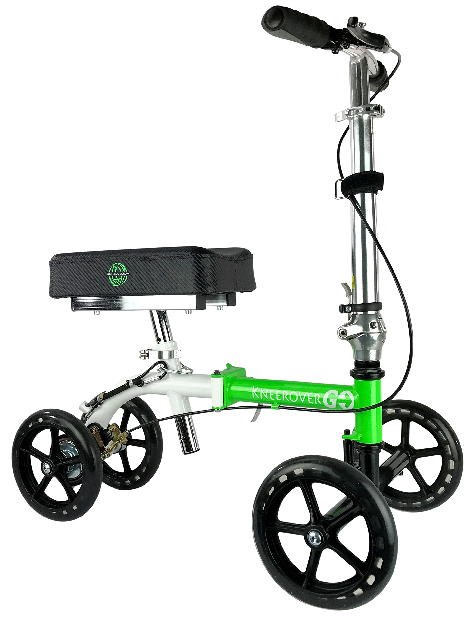 NEW KneeRover GO Knee Walker - The Most Compact & Portable Knee Scooter Crutches Alternative by KneeRover