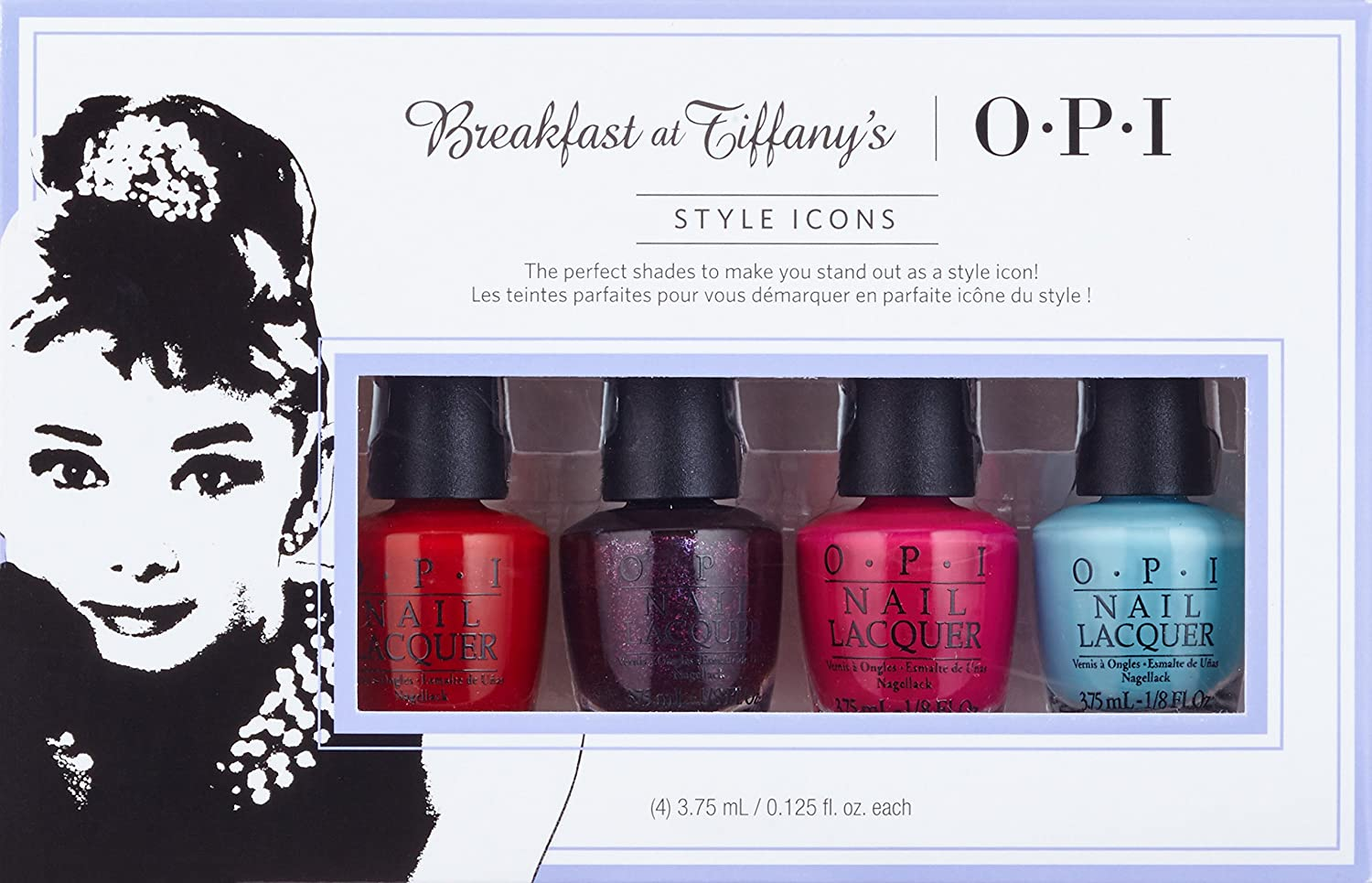 OPI Breakfast at Tiffanys Collection, Esmalte de uñas, color surtido, pack de 4: Amazon.es: Belleza
