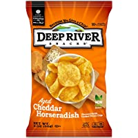 Deep River Snacks Kettle Potato Chips, Aged Cheddar Horseradish, 2-Ounce (Pack of 24), Gluten Free