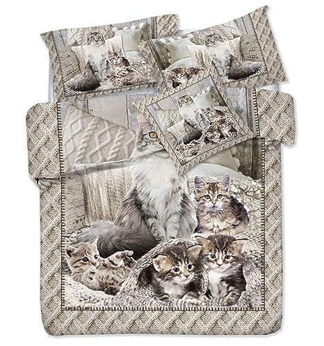 tex family Funda nórdica impresión Digital Gato Gatos MIAO