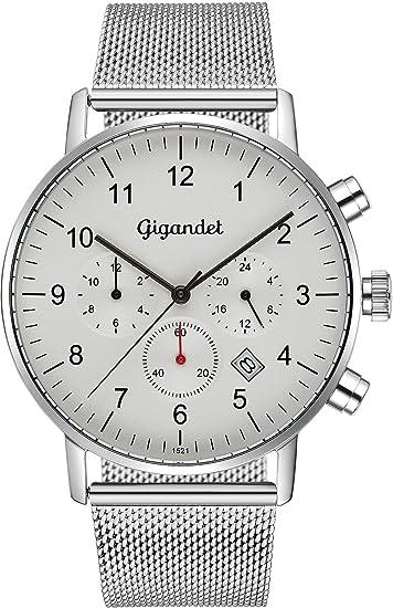 Gigandet Minimalism Reloj para Hombre 2 Zonas horarias Dual ...