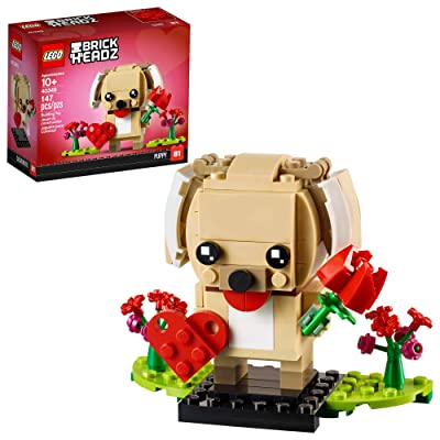 LEGO BrickHeadz 40349 Valentine's Puppy Building Kit (147 Pieces): Toys & Games