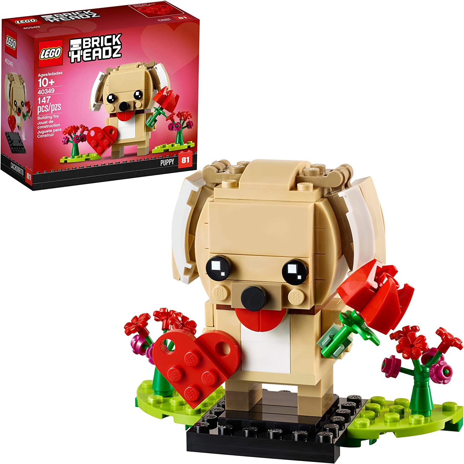LEGO BrickHeadz 40349 Valentine's Puppy Building Kit (147 Pieces)